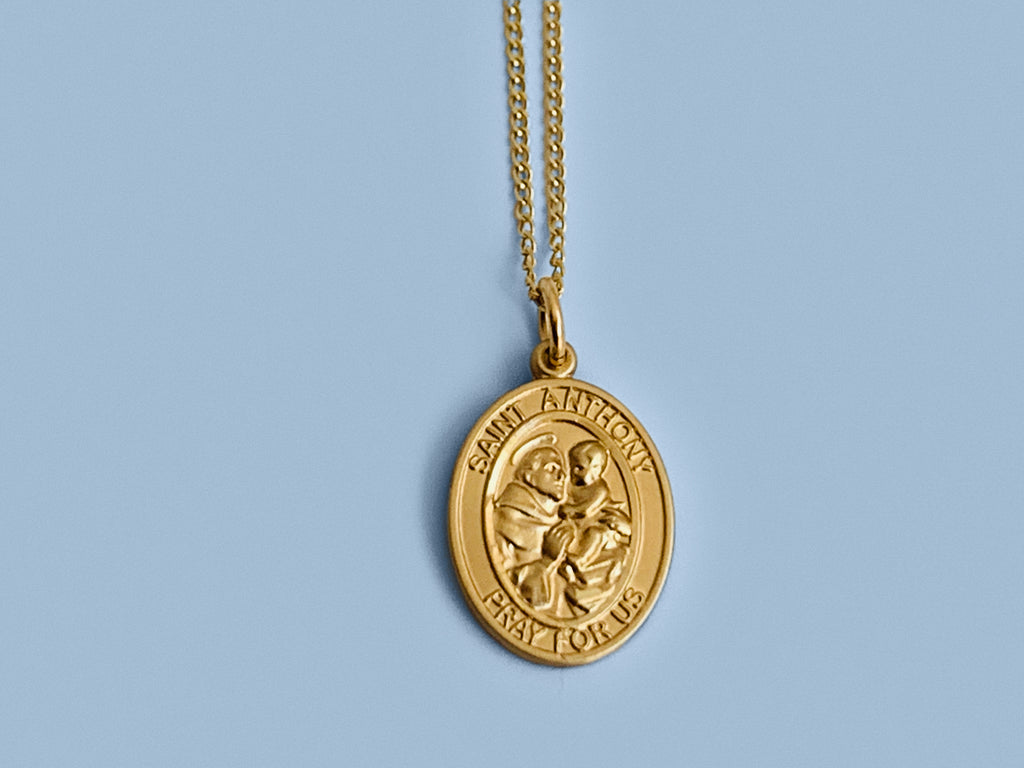 Patron Saint Necklace in Gold