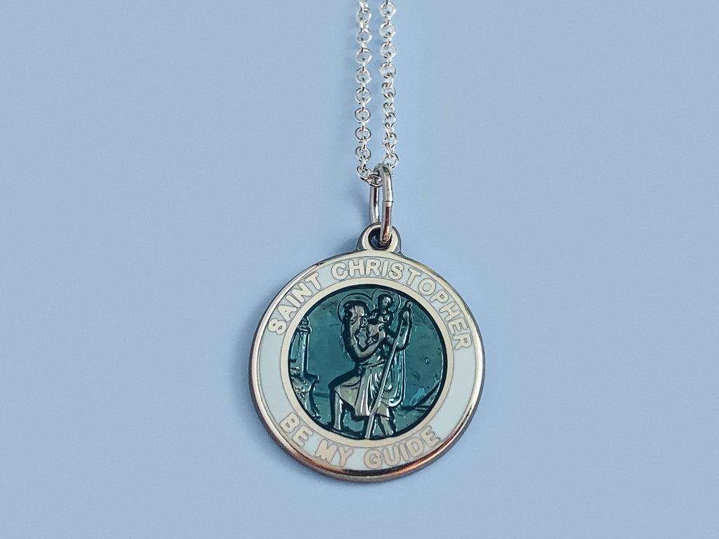 Saint Christopher Necklace in Sterling Silver