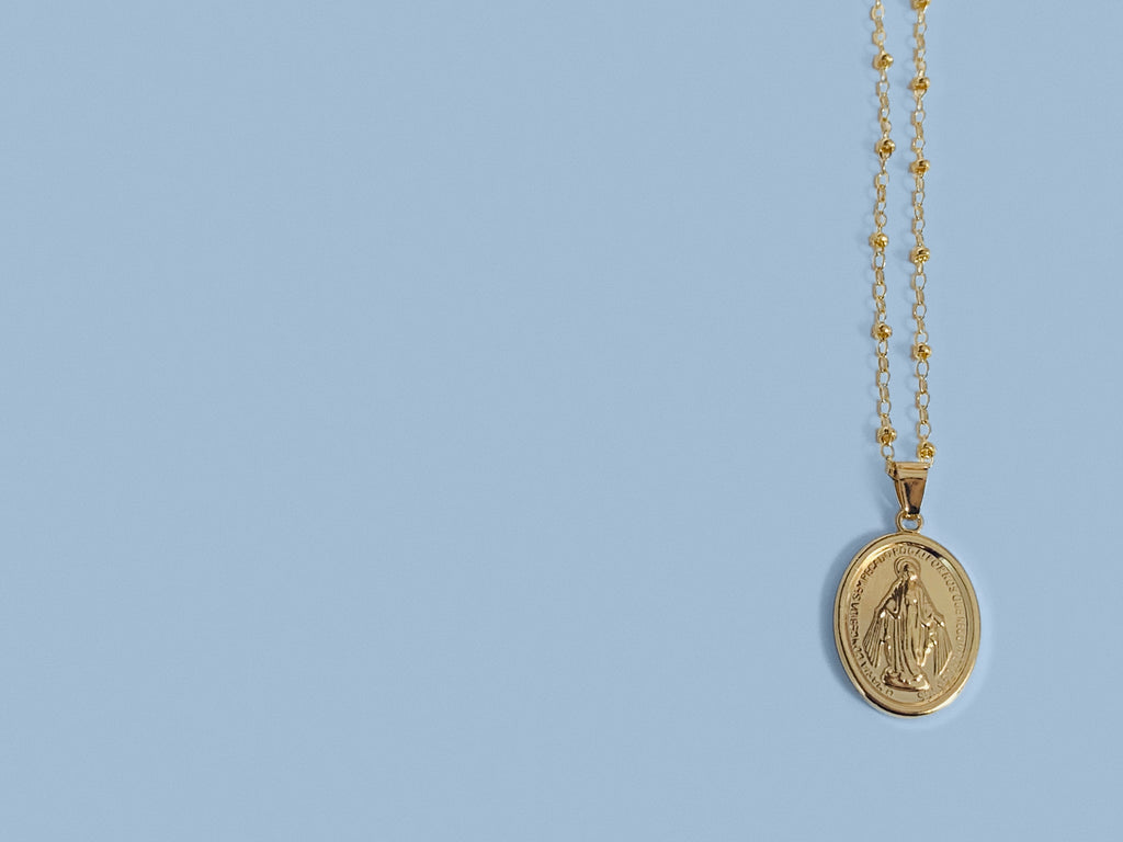 Miraculous Medal Necklace in Gold Filled