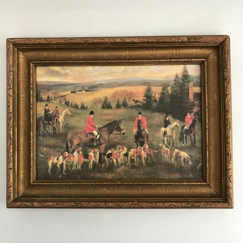 Framed Hunt Print