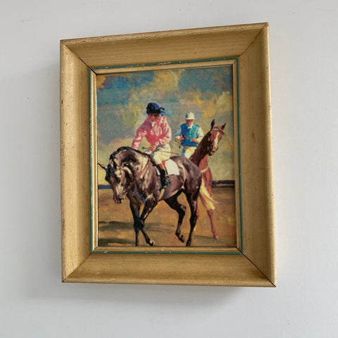 Vintage Frame and Racehorse Print