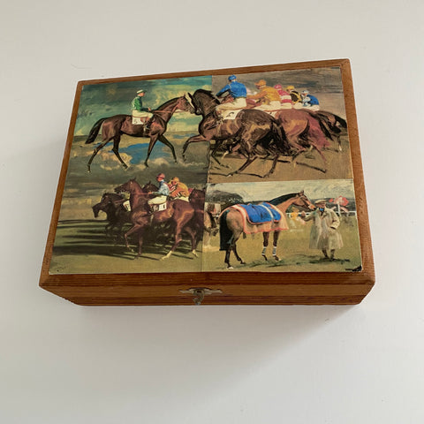 Racehorse Wooden Box