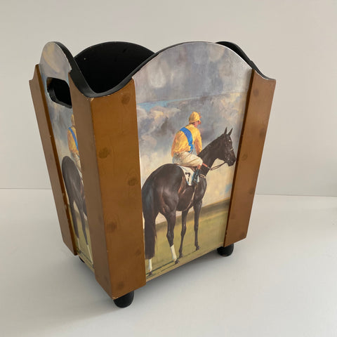 Racehorse Waste Paper Basket (or Magazine Holder)