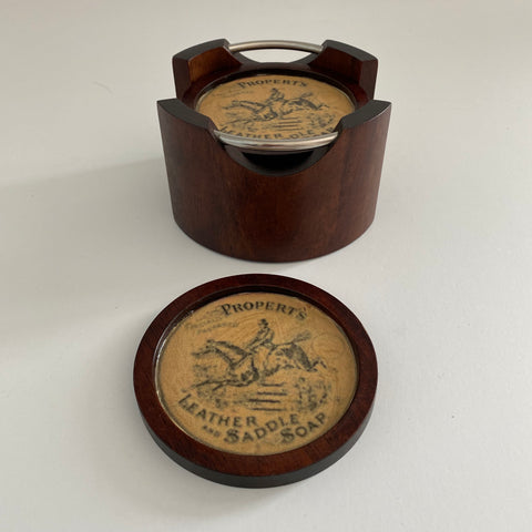 Propert's Leather and Saddle Soap Wooden Coasters