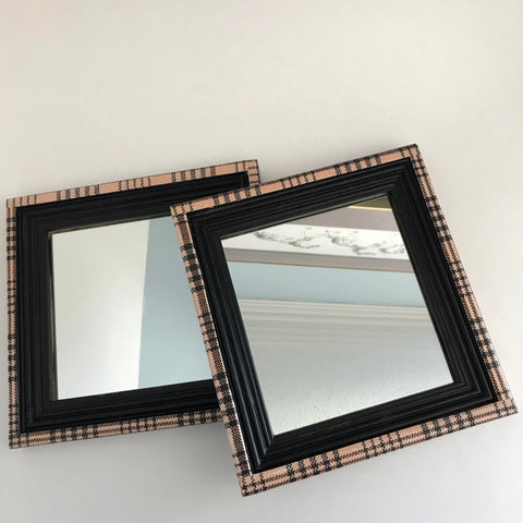 """Baker Blanket Look"" Mirrors (pair)"