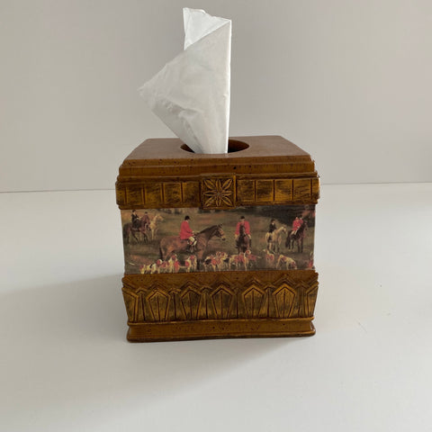 Hunt Scene Kleenex Box