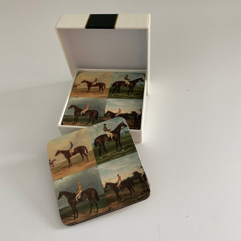 Racehorse coasters