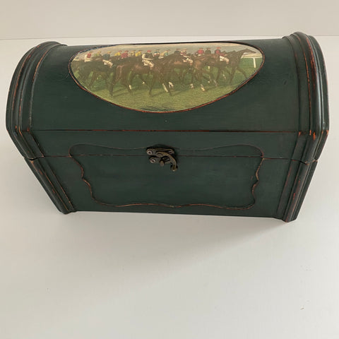 Decorative Wood Racehorse Chest