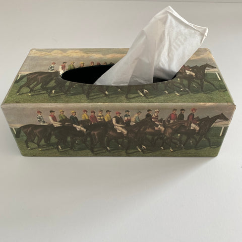 Racehorse Decorative Tissue Box