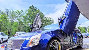 Installer | CJ Autosport | Cary, NC | Cadillac CTS featuring Vertical Doors, Inc., vertical lambo doors conversion kits.