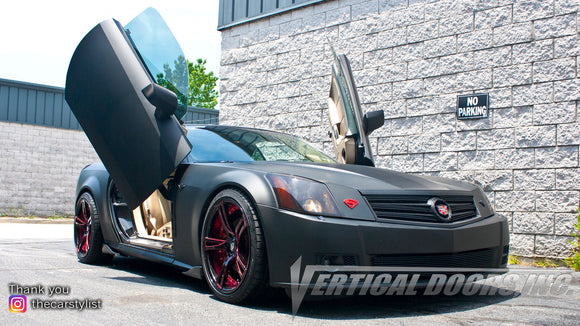 Installer | Mad Creations ATL | Longanville, GA | Cadillac XLR featuring Verical Doors, Inc. vertical lambo door conversion kit.