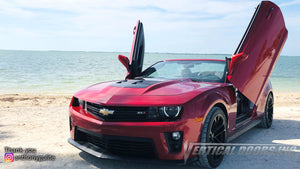 Check out Anthony's chevy camaro featuring vertical lambo doors installed by BadAss Rides LLC in Fort Myers, Florida.