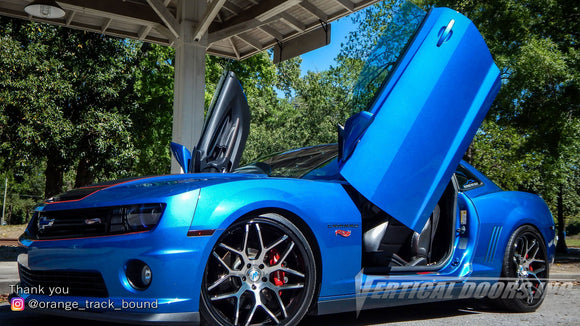 Check out Derek's @orange_track_bound Chevrolet Camaro Hot Wheels Special Edition from Georgia featuring Vertical Lambo Doors Conversion Kit from Vertical Doors, Inc.