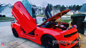 Check out Brian's @turrbo_2015_ls 2015 Chevrolet Camaro from Georgia featuring Vertical Lambo Doors Conversion Kit from Vertical Doors, Inc.