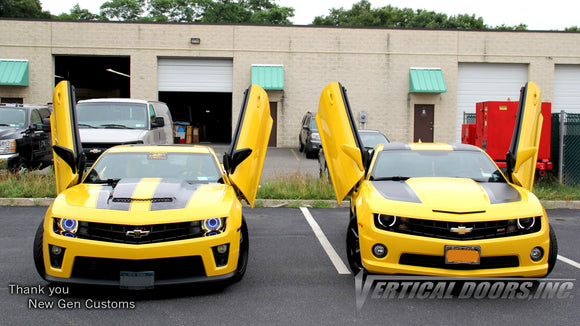 Installer | NewGen Customs| Holbrook, NY | 5th Gen Chevrolet Camaro with Vertical Lambo Doors Conversion Kit for Vertical Doors, Inc.