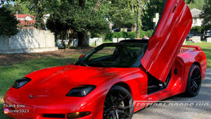 Check out Marie's Corvette C5 from North Carolina featuring Vertical Doors, Inc. vertical lambo doors conversion kit.