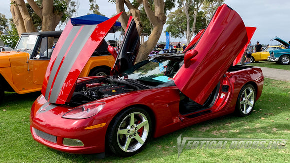 Check out Paul's Chevrolet Corvette C6 from California, featuring Vertical Lambo Doors Conversion Kit from Vertical Doors, Inc.