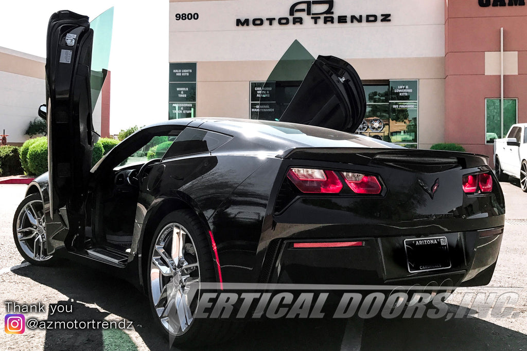 Installer | AZ Motor Trendz | Peoria, AZ | Chevrolet Corvette C7 with Vertical Lambo Doors Conversion Kit
