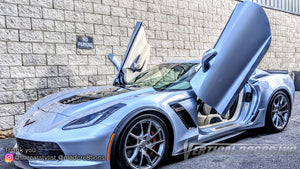 Installer | Mad Creations | Loganville, GA | Chevrolet Corvette C7 Vertical Doors, Inc., vertical lambo door conversion kit.