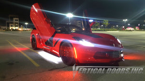 Installer | Sadabros Renovations | Kitchener ON Canada | Chevrolet Corvette C7 with Vertical Lambo Doors Conversion Kit