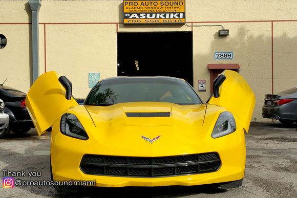 Pro Auto Sound Miami | Miami, FL | Chevrolet Corvette C-7 featuring Verical Doors, Inc. ZLR door conversion kit.