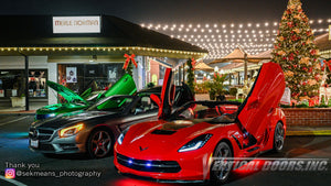 Visual Arts | Sek Means Photography | Check out this great images of Chevrolet Corvette and Camaro featuring Vertical Doors, Inc., vertical lambo door conversion kit