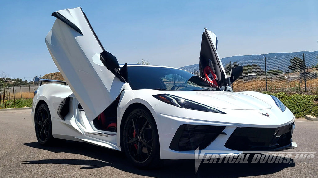 PRE ORDER NOW! Chevrolet Corvette C-8 2020-2020 Lambo Door Conversion Kit by Vertical Doors Inc.