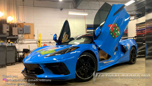 Installer | Mad Creations | Atlanta, GA | Chevrolet Corvette C8 Vertical Doors, Inc., vertical lambo door conversion kit.