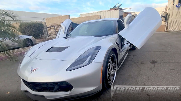 Chevrolet Corvette C7 2014-2019 ZLR Door Conversion Kit by Vertical Doors Inc.