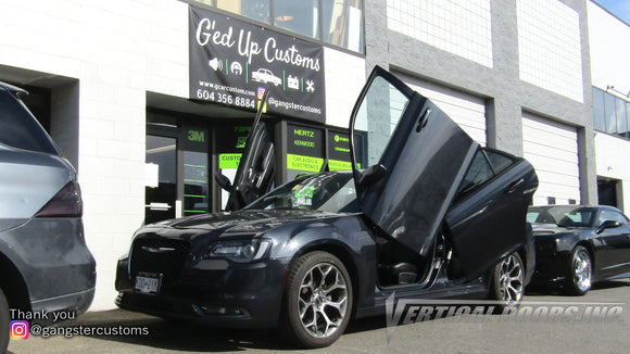 Installer | G'ed Up Car Customs | British Columbia, Canada | Chrysler 300 Vertical Doors, Inc., vertical lambo door conversion kit.