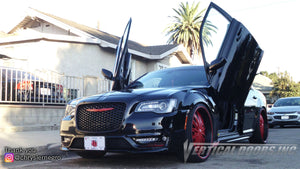 Check out Arnold's Chrysler 300 from Sinaloa Mexico featuring Vertical Lambo Doors Conversion Kit from Vertical Doors, Inc.