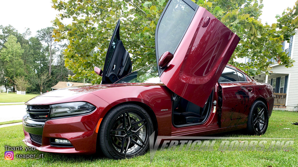 "Richard's Dodge Charger ""Reaper"" featuring Vertical Doors, Inc., vertical lambo doors conversion kit."