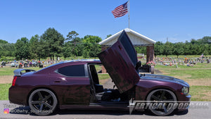 Check out Brandon's @08why_so_serious Dodge Charger from Arkansas featuring Vertical Doors, Inc., vertical lambo doors conversion kit.