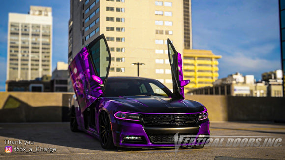 Check out Beth's @5x_a_Charge Dodge Charger from Georgia featuring Vertical Lambo Doors Conversion Kit from Vertical Doors, Inc.