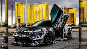 Check out Abel's @ponoscat Dodge Charger from Nevada featuring Vertical Doors, Inc., vertical lambo doors conversion kit.
