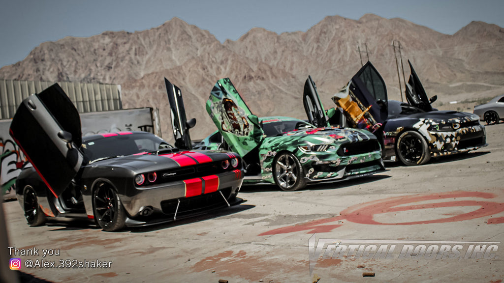 Check out Alex's @alex.392shaker Dodge Challenger from Nevada featuring Lambo Door Conversion Kit by Vertical Doors Inc.