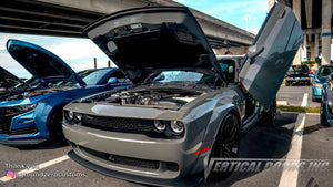 Installer | Ground Zero Customs | Holt, Florida | Dodge Challenger Vertical Doors, Inc., vertical lambo door conversion kit.