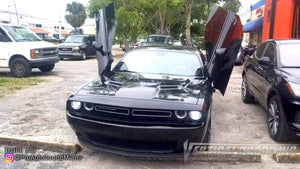 Installer | Pro Auto Sound Miami | Miami, FL | Dodge Challenger featuring Verical Doors, Inc. vertical lambo doors conversion kit.