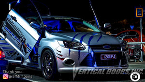 "Darren's ""Dragon Focus""  from Australia, Ford Focus featuring Vertical Lambo Door Conversion kit"