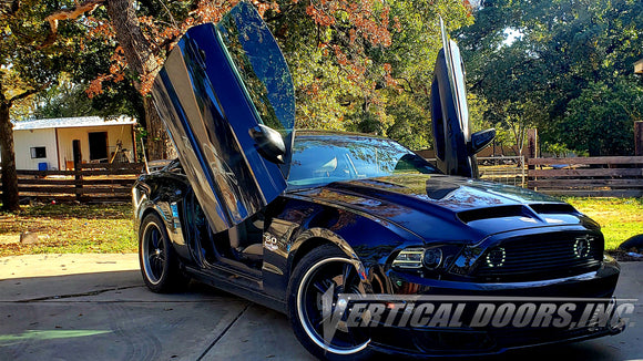 Victor's Ford Mustang featuring Vertical Doors, Inc., Lambo Door Conversion Kit