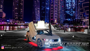 "Bakri's 2016 Ford Mustang ""White Ghost"" Featuring Vertical Lambo Doors from Vertical Doors, Inc. from Dubai, United Arab Emirates"