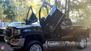 Installer | T&A CUSTOM AUDIO | Tallahassee, FL | GMC Sierra 2014-2018  Lambo Door Conversion Kit by Vertical Doors Inc.