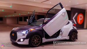 Check out Roberto's @Rapdurr Hyundai Veloster from California featuring Vertical Lambo Doors Conversion Kits from Vertical Doors, Inc.