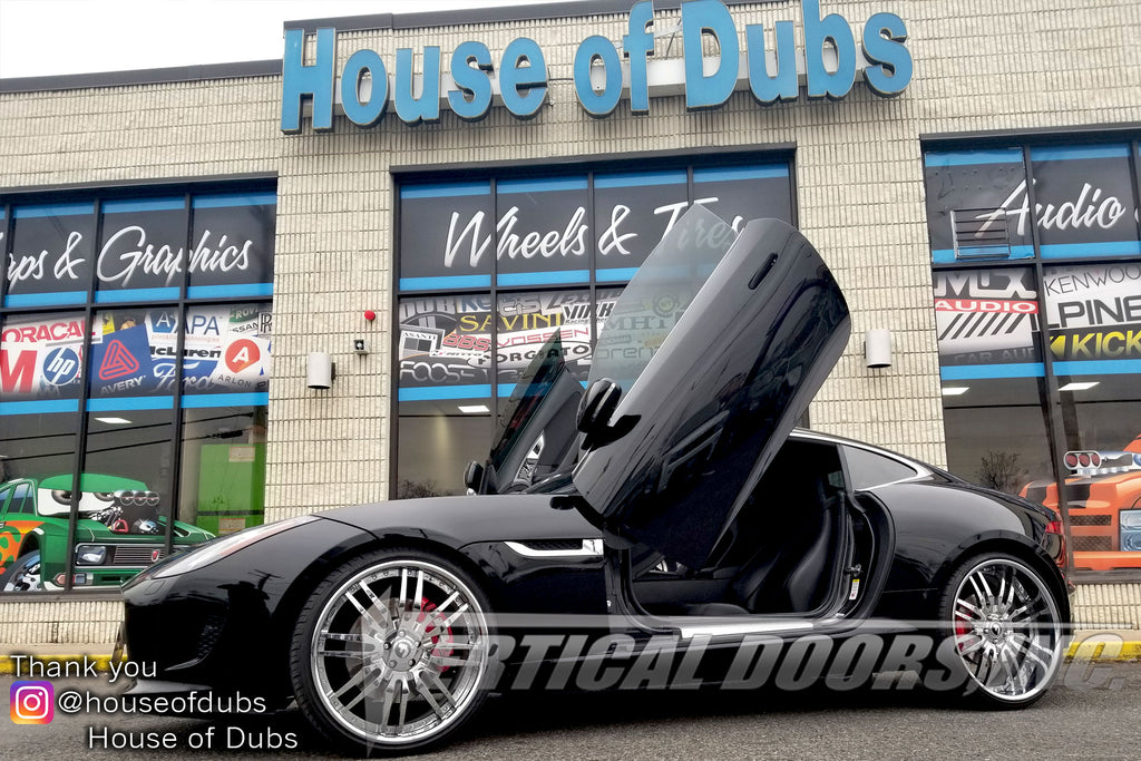 House of Dubs | Laurel, MD | Jaguar F-Type featuring Verical Doors, Inc. vertical lambo door conversion kit.