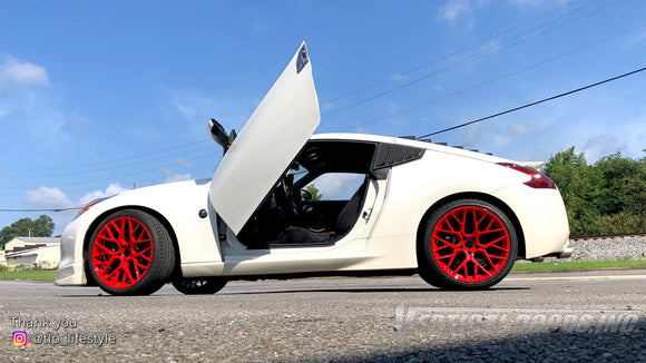 Check out Trevor's @tlp_lifestyle Nissan 370Z from Georgia featuring Vertical Lambo Doors Conversion Kit by Vertical Doors, Inc.