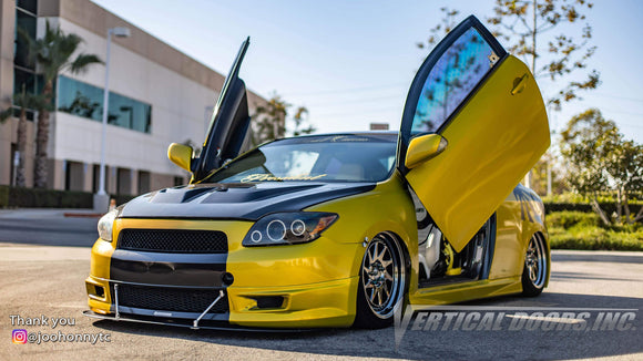 Check out @kshamstc_ Scion TC from California featuring Vertical Doors, Inc., Vertical Lambo Doors Conversion Kits.