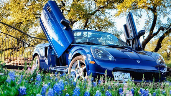 Check out this cool Toyota MR2/MRS from Texas featuring Lambo Door Conversion Kit by Vertical Doors Inc.