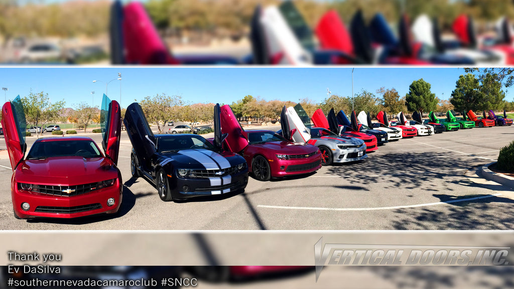 "Check out ""The Southern Nevada Camaro Club (SNCC)"" Chevrolet Camaros featuring Vertical Doors, Inc. vertical lambo doors conversion kit."