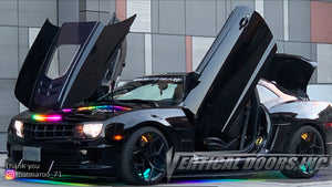"Brian's Chevrolet Camaro ""Batmaroo_71"" featuring Vertical Doors, Inc., Vertical Lambo Doors Conversion Kit."