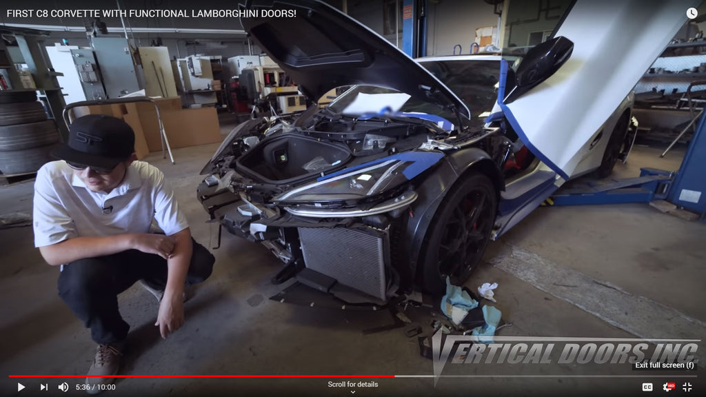 YouTube Channel | Speed Phenom | Chevrolet Corvette C8 Door Conversion Kit from Vertical Doors, Inc.
